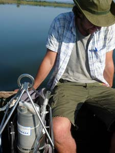 Deploying CTD probe for limnology investigation of Lake Chilingali (Malawi)